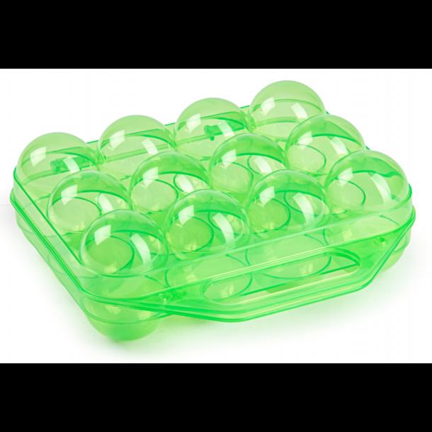 Æggebakke i grøn plast - 12 æg